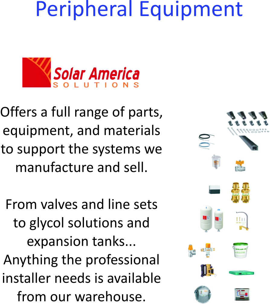 Peripheral Equipment | Solar America Solutions